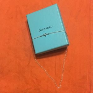 Authentic Tiffany and Co. 16 in. Silver Necklace